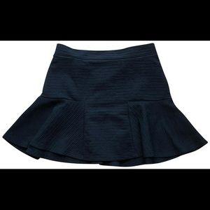 Black Trafaluc Textured Flounce Skirt